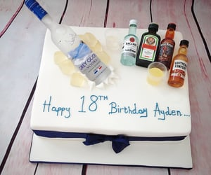 birthday, southern comfort, and cake image