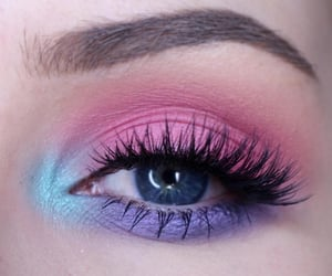 black, eyeshadow, and eye makeup image