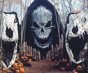 autumm, haunted house, and decor image