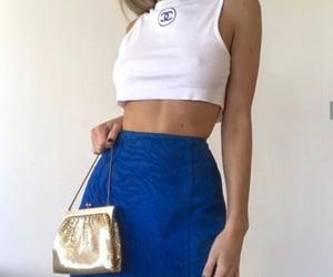 blue, girl, and moda image