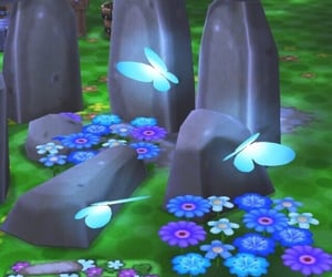 aesthetic, animal crossing, and butterfly image