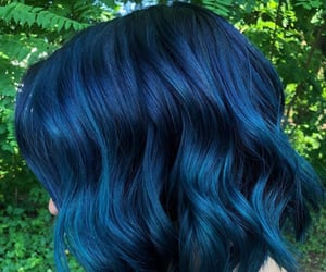 blue hair, colored hair, and hair image