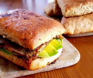bread, sandwich, and eat image