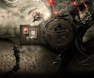 dark, gothic, and sci-fi image