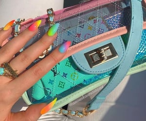 colorful, colorful nails, and colors image