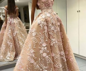 fashion, gown, and lace image