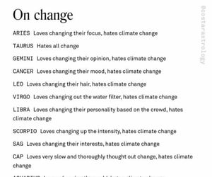 astrology, change, and signs image
