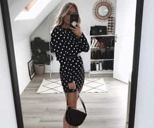 fashion, monochrome, and outfit image