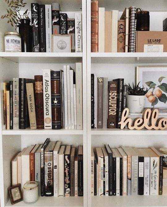 aesthetic, artistic, and bookcase image