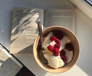 book, food, and dessert image