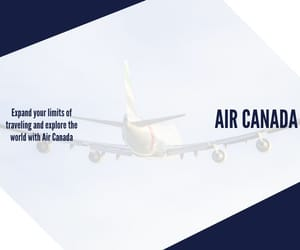 air canada reservations, air canada flights, and air canada tickets image