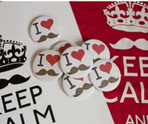 mustache, love, and keep calm image