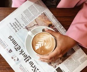 beauty, newspaper, and pink image