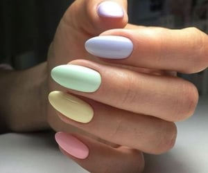 nails, pastel, and color image