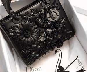 bag, dior, and black and white image