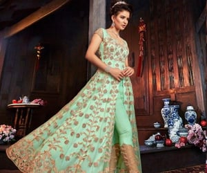 lehenga suits, aanrkali suits, and palazzo suits image