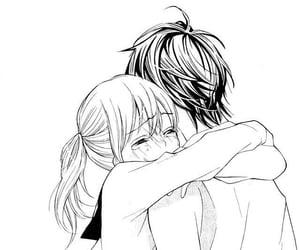 cute, couple, and hug image