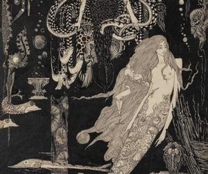 illustration and mermaid image