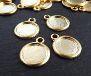 etsy, gold cab setting, and charm blank image