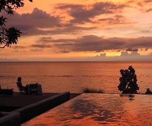 orange, sunset, and aesthetic image