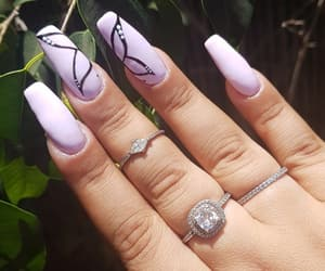 beauty, nail, and butterfly image