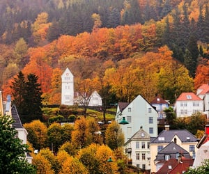 fall autumn, hot ​chocolate, and bergen norway image