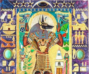 anubis, pagan, and devotion image