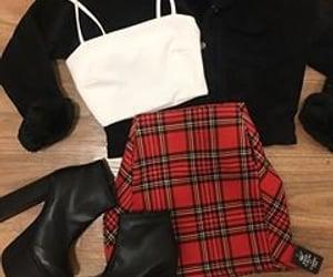 fashion, plaid, and winter fashion image