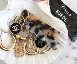 chanel, gold, and jewelery image