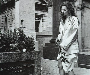 black and white, grave, and Jim Morrison image