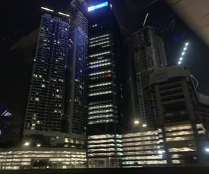 buildings, city, and night image
