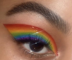 makeup, rainbow, and alternative image