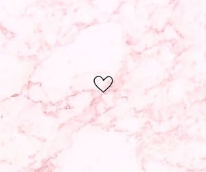 aesthetic, heart, and light pink image