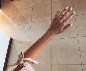 bow, manicure, and girly image