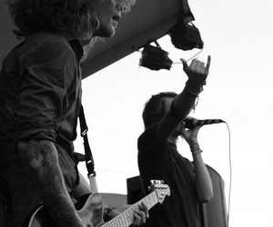 black and white, photography, and rock image