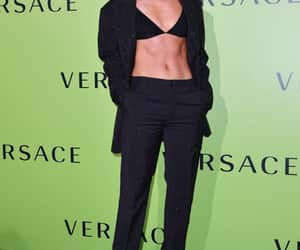 rosie huntington whiteley, suit, and Versace image