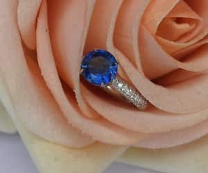 etsy, vintage sapphire, and fine jewelry image