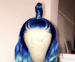 ombre colored ; blue wig image