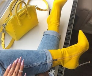 yellow, boots, and heels image