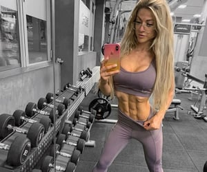 abs, girl, and gym image