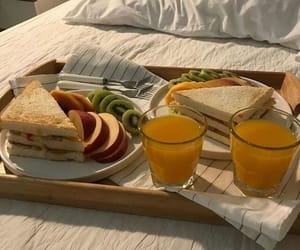 bread, breakfast, and fruit image