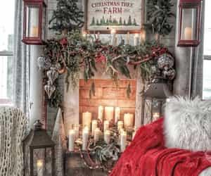 candle, lights, and christmas image