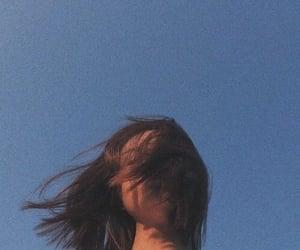 girl, aesthetic, and sky image