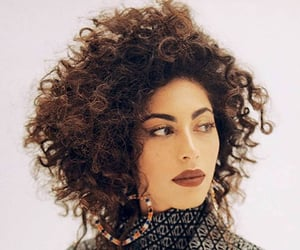 actress, beauty, and curly hair image