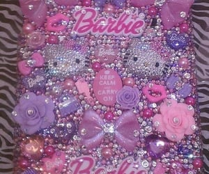 hello kitty, pink, and barbie image