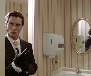 80s, american psycho, and christian bale image