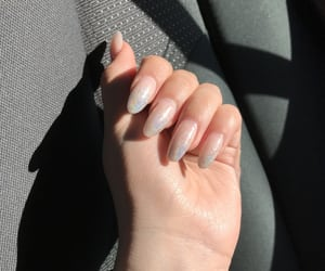 acrylics, holographic, and nails image