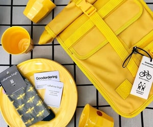 backpack, supplies, and yellow image