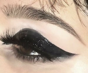 makeup, black, and aesthetic image