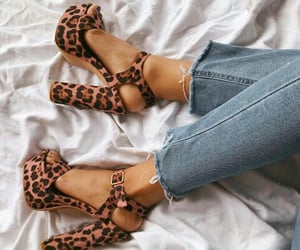 aesthetic, animal print, and heel image
